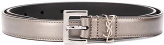 Saint Laurent Metallic Leather Monogram Belt