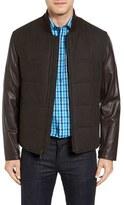 Bugatchi Men's Mixed Media Zip Jacket