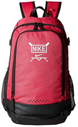 Nike Kids Vapor Clutch Bat Baseball Backpack (Rush Pink/Black/White) Backpack Bags