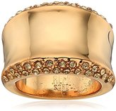 "Robert Lee Morris Cocktail Hour"" Pave Sculptural Gold Ring, Size 8.5"