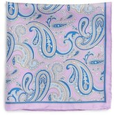 Robert Talbott Men's Paisley Silk Pocket Square