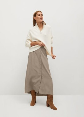 MANGO Modal skirt