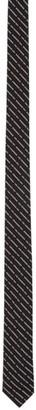 DSQUARED2 Black Jacquard Logo Tie