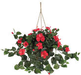 Asstd National Brand Nearly Natural Hibiscus Hanging Basket