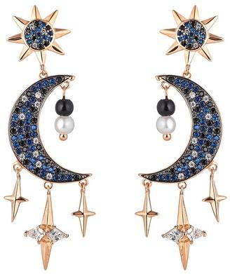 Eye Candy La Night Moon Cubic Zirconia Drop Earrings
