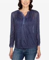 Lucky Brand Patterned Knit Henley