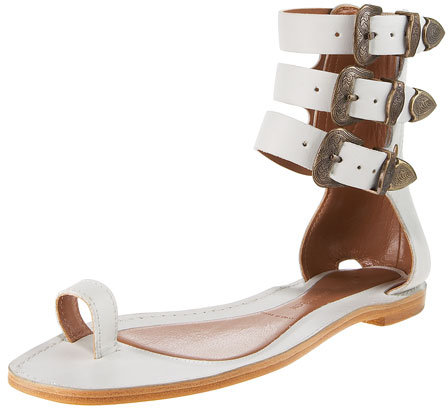 Sigerson Morrison Triple-Strap Gladiator Sandal