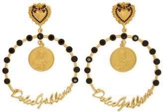 Dolce & Gabbana Gold Logo Hoop Earrings