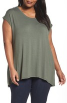 Sejour Plus Size Women's Shirred Back Dolman Tee