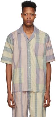 Liam Hodges Blue and Pink Solar Flair Short Sleeve Shirt