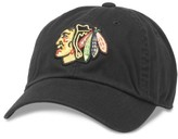 American Needle Men's Blue Line Chicago Blackhawks Baseball Hat - Black