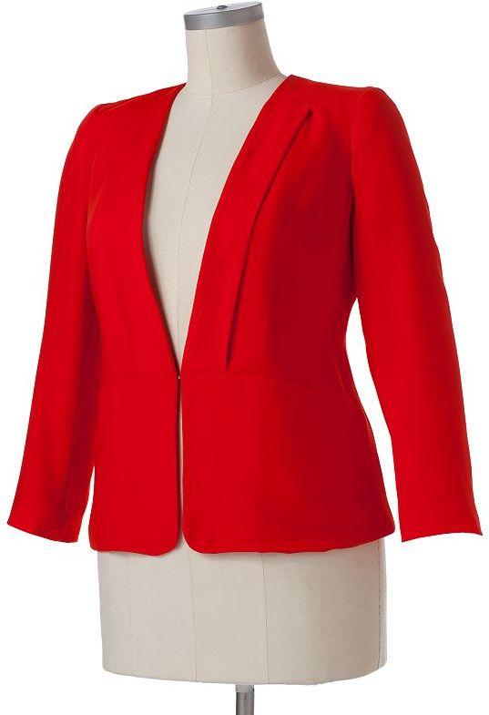 JLO by Jennifer Lopez tuxedo jacket - women's plus