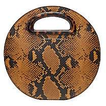 Loeffler Randall Women's Indy Circle Snakeskin-Embossed Leather Crossbody Bag