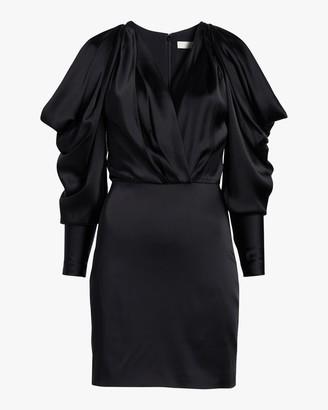 Jonathan Simkhai Pleated-Sleeve Mini Dress