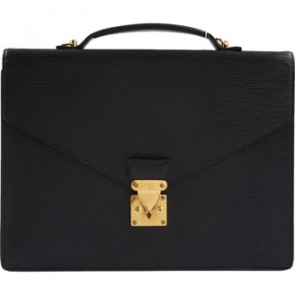 Louis Vuitton Black Leather Bags