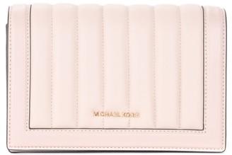 Michael Kors Jet Set Large Shoulder Bag In Pink Leather