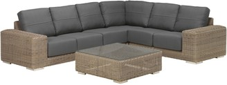 4 Seasons Outdoor Kingston 5 Seater Garden Modular Set, Pure