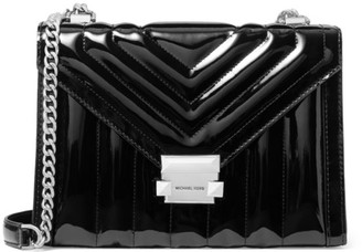 MICHAEL Michael Kors Whitney Quilted Patent Leather Shoulder Bag