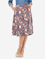 The Limited High Waisted Printed Wrap Midi Skirt