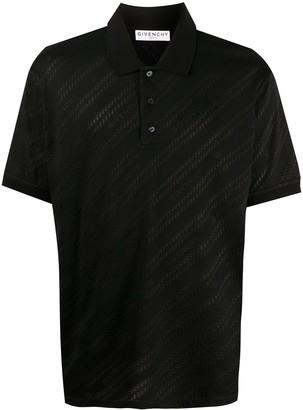 Givenchy Tonal Logo Print Polo Shirt