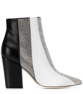 Sergio Rossi Panelled Chunky-Heel Ankle Boots