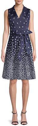 Anne Klein Polka Dot Wrap Dress