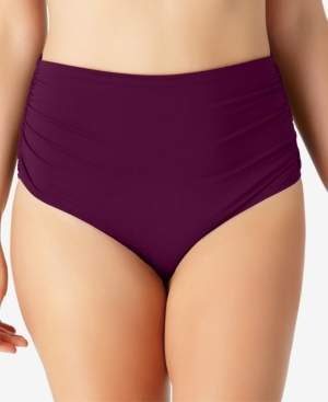 Anne Cole Plus Size Live In Color High-Waist Swim Bottoms Women's Swimsuit