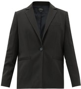 A.P.C. Savannah Single-breasted Stretch-crepe Blazer - Womens - Black