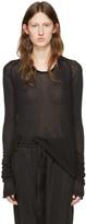 Haider Ackermann Black Long Sleeve T-Shirt