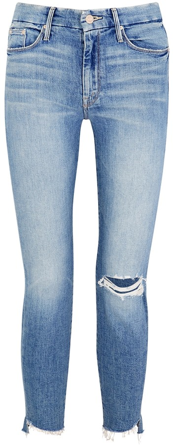 Looker Ankle Step Fray Cropped Jeans