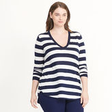 Ralph Lauren Woman Striped Silk-Blend Sweater