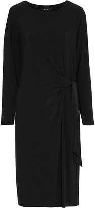 DKNY Tie-front Draped Stretch-jersey Dress
