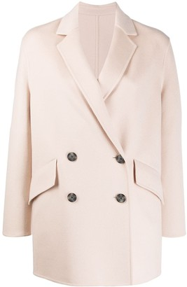 Joseph Double-Breasted Fitted Coat