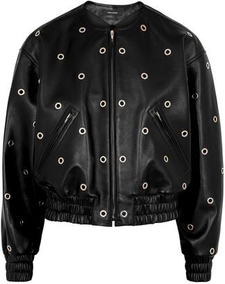 Isabel Marant Quenty eyelet-embellished leather jacket