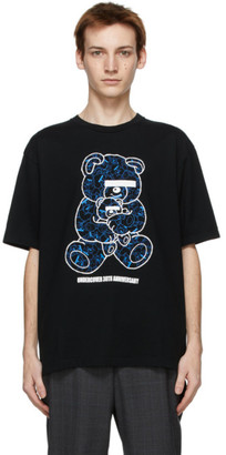 Undercover Black U Bear Bear 30th Anniversary T-Shirt