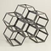 World Market Black Hexagonal Wine Rack