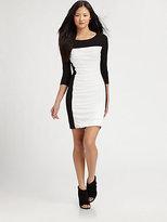 Skyla Ruched Colorblock Dress