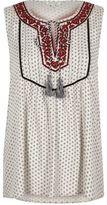 River Island Womens Cream print embroidered sleeveless top