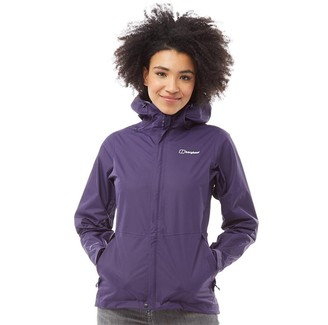 Berghaus Womens Deluge Vented Waterproof Shell Jacket Dark Purple
