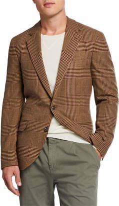 Brunello Cucinelli Men's Plaid Wool-Blend Sport Jacket