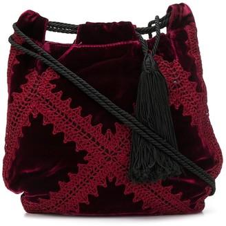 Giorgio Armani Pre-Owned 2000's tassel drawstring shoulder bag