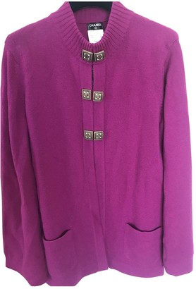 Chanel Purple Cashmere Knitwear