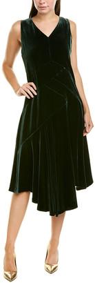 Lafayette 148 New York Ashlena Silk-Blend A-Line Dress