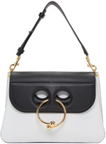J.W.Anderson White & Black Medium Pierce Bag