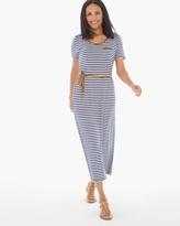 Chico's Striped Tee Midi Dress