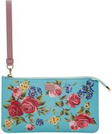 Dolce & Gabbana Blue Small Rose Zip Pouch