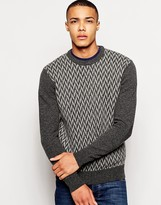 Jack Wills Weaverham Sweater with Chevron Intarsia