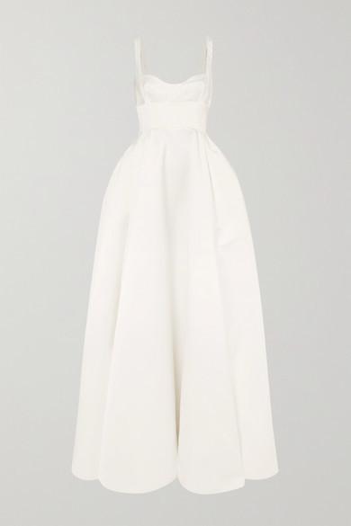 Emilia Wickstead Diamond Duchesse-satin Gown - White