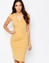 Jessica Wright Aliz Pencil Dress With Ruched Front