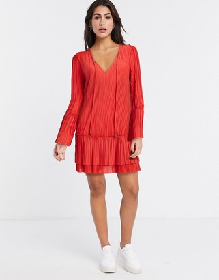 Free People Can't Help It plisse flared sleeve dress